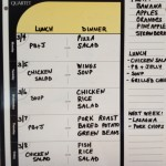 Dry Erase - Weekly Meals