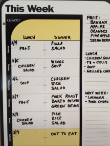 Dry Erase - Weekly Meals