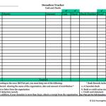Donation Tracker - Cash and Checks