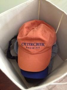 Hats in bin