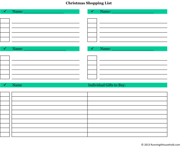 photograph regarding Printable Christmas Shopping List named Xmas Browsing Lists - Functioning A Residence