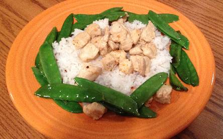 What's for Dinner? Chicken, Rice and Snap Peas - Running A Household