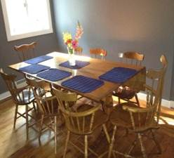 Solutions for a small dining room running a household for Small dining room solutions