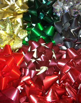 Bows - Red Green Gold Silver