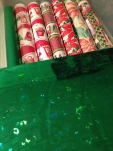 Gift Wrap Storage Bin
