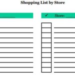 Shopping List By Store