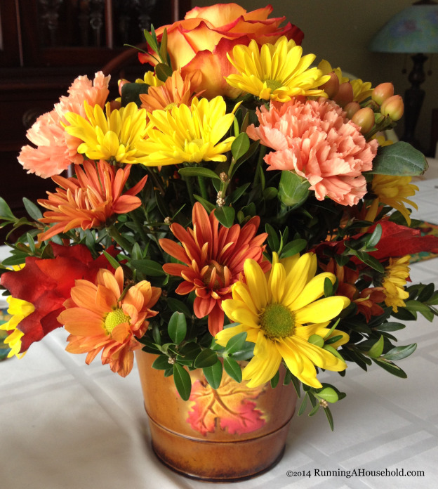 Thanksgiving small floral centerpiece 2