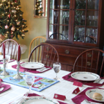 Christmas dinner table