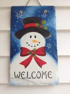 Welcome sign - snowman