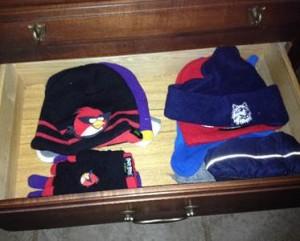 Hats in dresser