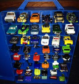 Matchbox cars in case 2