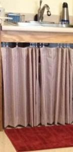 Curtains under sink