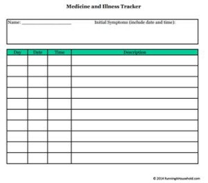 Medicine and Illness Tracker small