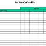 Pet Sitters Checklist