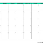 Blank Calendar July 2015