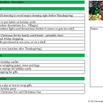 printable Christmas Checklist for November