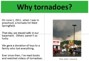 Tornado Science Fair Slides