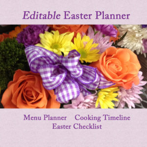 Editable Easter Planner; Easter Menu Planner, Easter Cooking Timeline;Editable Easter Checklist